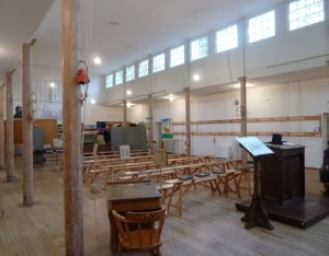 Classroom for 300 boys in the surviving British School at Hitchin