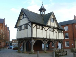 The picturesque Grammar School at Market Harborough was built in 1614