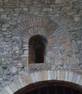 Saxon window, at St Nicholas's church, Leicester