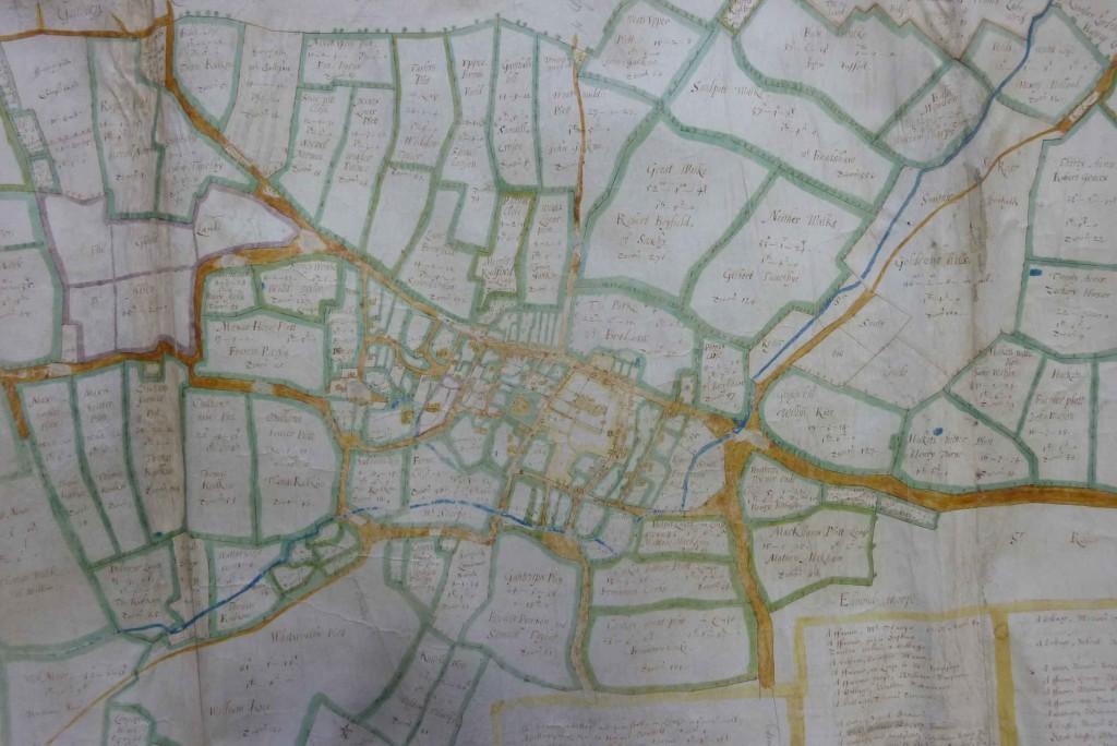 Estate map of Wymondham, 1652