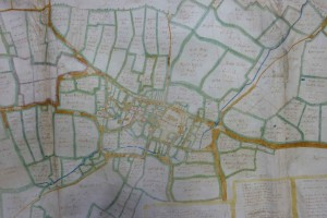 Estate map of Wymondham, 1652