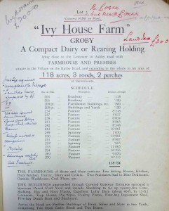 Sales particulars, Ivy House Farm, Groby, 1932