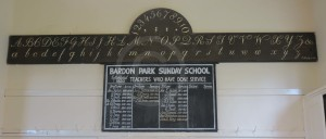 Bardon Chapel School alphabet board