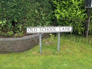 Bagworth school is remembered in this road sign