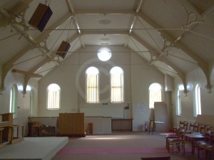 Burbage Wesleyan chapel (interior of 1866 building)